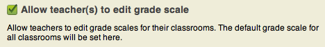 Lock default grading scale